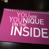 YOUnique - Notepad - You are Unique on the inside (all about YOU series) anti-bullying