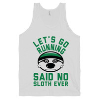Anti Running Team - Sloths, Cute, Fitness, Lazy, Sleeping, Nap, Shirts, Tops, Tanks, Clothing, Womens,