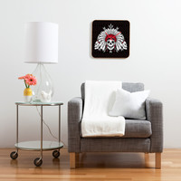 Chobopop Geometric Indian Skull Custom Clock