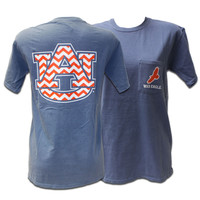 T-Shirt, Comfort Color Chevron Au | Auburn University Bookstore
