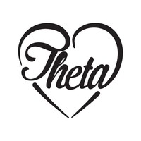 Kappa Alpha Theta Heart Decal