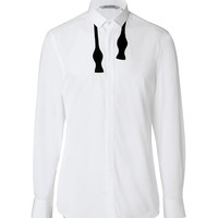 Neil Barrett - Cotton Bow Tie Shirt in White/Black