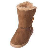 Walmart: Brinley Co Kids Girls Wood Toggle Accent Boots