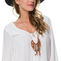 BILLABONG SECRET MOON BELLED SLEEVE TOP