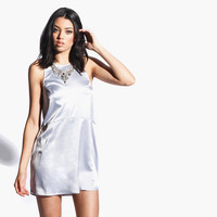 Women's Interlude Mini Dress (Silver)