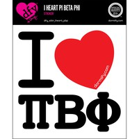 I Heart Pi Beta Phi Sticker