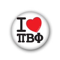 I Heart Pi Beta Phi Spirit Button