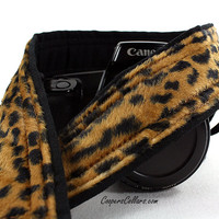 Leopard Faux Fur dSLR Camera Strap, SLR,147