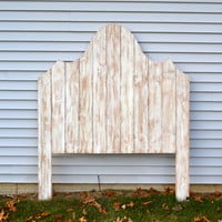 The Giuliana - Shabby Chic White Wooden Distressed Headboard