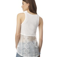 Hi-Lo Lace-Back Tank