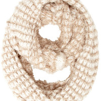 White/stone fluffy snood
