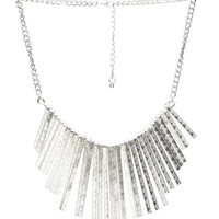 Textured Metal Sticks Necklace | Wet Seal