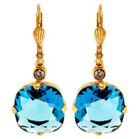 Round Crystal Earrings, TealLA VIE PARISIENNE