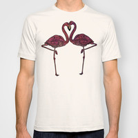 Flamingos T-shirt by Ben Geiger
