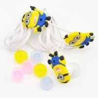 Oneshow Cartoon Style Despicable Me Minions Cute White In-ear Headphone,earphone.