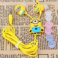 Music Lover Gifts : Animation Movie Despicable Me 2 Minion Stuart 3.5mm In-Ear Headphone for iPhone, Android, Windows Phone, MP3, MP4, iPod, iPad by Wealthy Enterprise