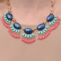 Preppy Perfection Necklace: Multi