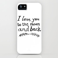 To the Moon and Back- White iPhone & iPod Case by Rebecca Allen