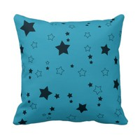 Rain of Stars Blue Pillow