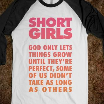 Short Girls-Unisex White/Black T-Shirt