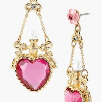 Betsey Johnson 'Fairyland' Crystal Heart Drop Earrings | Nordstrom