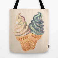 Treat Yo' Self Tote Bag by Kanika Mathur