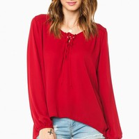 JOSETTE BLOUSE IN BURGUNDY