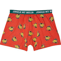 RED JINGLE BELLS BOXER SHORTS