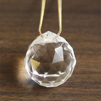 Cosmic Diamond Crystal Necklace