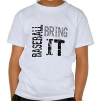 Zazzle Unisex Kids Baseball Bring It Tee
