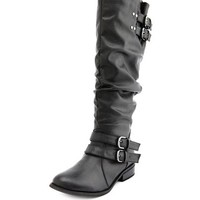RUCHED BACK RIDING BOOT
