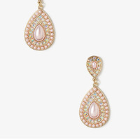 Pearlescent Teardrop Dangle Earrings