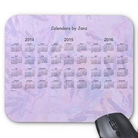 2014-2016 3 Year Calendar Mousepad
