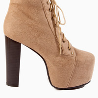 Iman Lace Up Boot $64