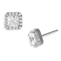 Women's Nordstrom Pave Square Stud Earrings
