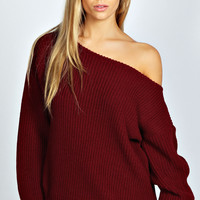 Harmony Slash Neck Fisherman Jumper