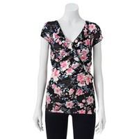 Candie's® Floral Ruffled Top - Juniors