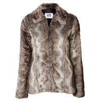 Fast Short Faux Fur Jacket
