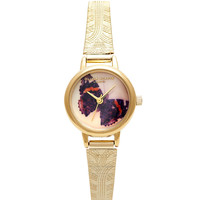 **OLIVIA BURTON WOODLAND BUTTERFLY BRACELET WATCH