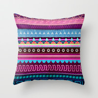 Aztec #2 Throw Pillow by Emiliano Morciano (Ateyo)