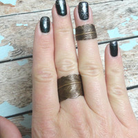 Vintaj Brass Feather Wrap Ring