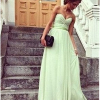 A line Custom Sage Long Floor Length Sweetheart Prom Dresses,Formal Dresses,Sage Bridesmaid Dresses, Wedding Party Dresses,Cheap Prom Dress