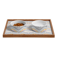 Heather Dutton Dash And Dot Neapolitan Pet Bowl and Tray
