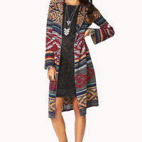 Rustic Hooded Maxi Cardigan