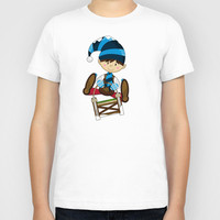 E is for Elf Kids T-Shirt by markmurphycreative