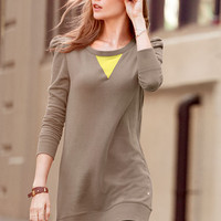 Chiffon-trim Fleece Tunic - Victoria's Secret