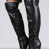 Nelly-17 Over The Knee Buckle Boots | MakeMeChic.com