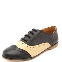 2-TONE LACE-UP OXFORD
