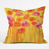 Rosie Brown Waiting For Spring Throw Pillow
