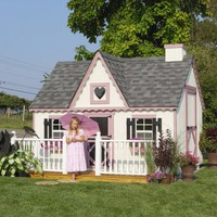 Little Cottage 8 x 8 Victorian Wood Playhouse | www.hayneedle.com
